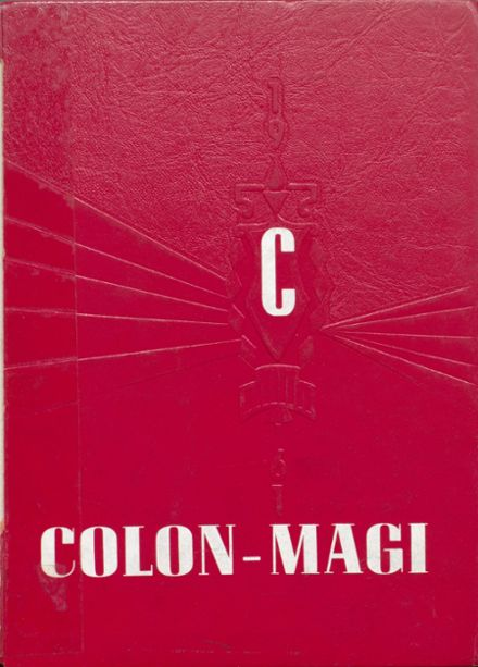 1961 Colon High School Yearbook Cover