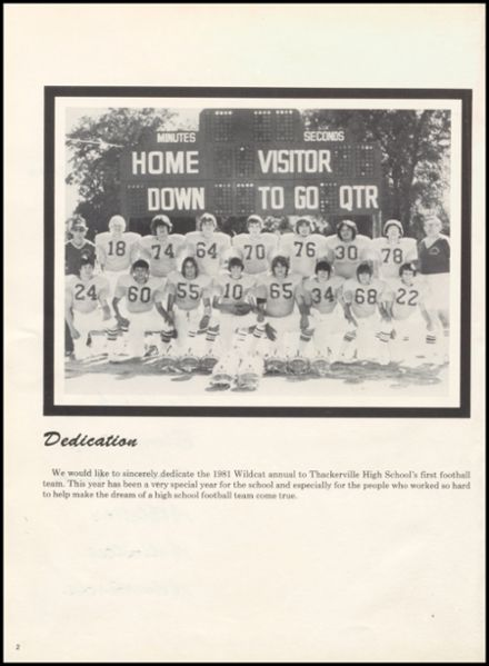 1981 Thackerville High School Yearbook Page 6