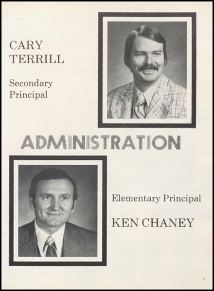 1981 Thackerville High School Yearbook Page 9