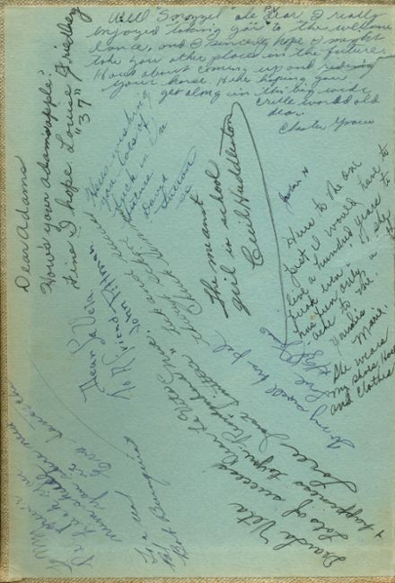 1934 Taft Union High School Yearbook Page 2