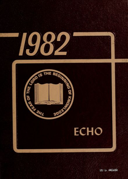 1982 Clinton Christian High School Yearbook Cover