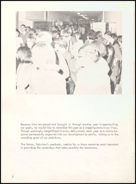 1967 Fairview High School Yearbook Page 6