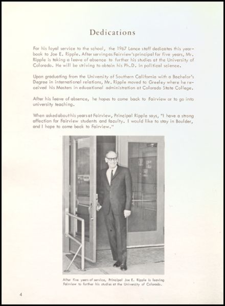1967 Fairview High School Yearbook Page 8