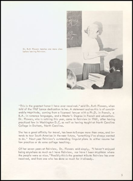 1967 Fairview High School Yearbook Page 9
