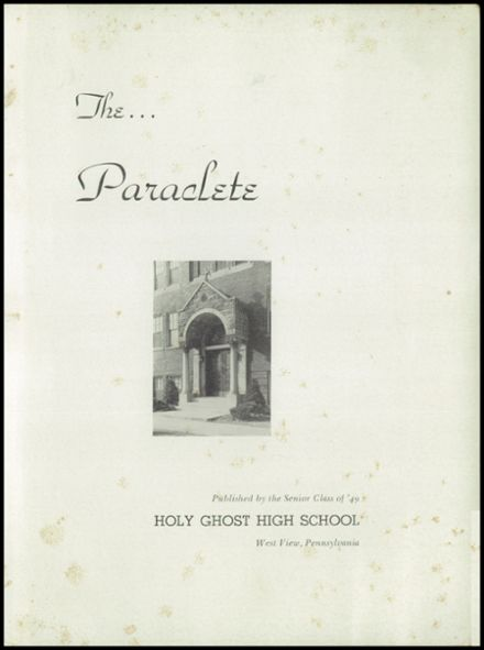 1949 Holy Ghost Preparatory School Yearbook Page 3