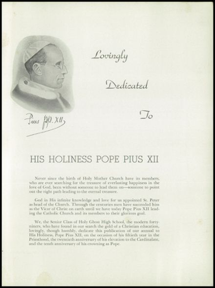 1949 Holy Ghost Preparatory School Yearbook Page 5