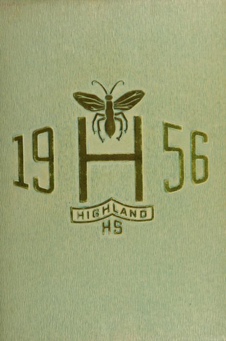 1956 Highland High School Yearbook Cover