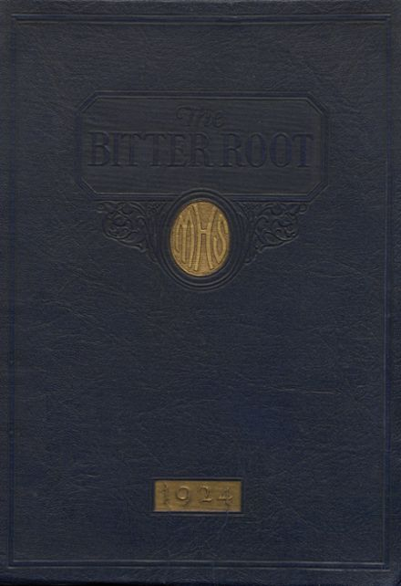 1924 Missoula County High School Yearbook Cover