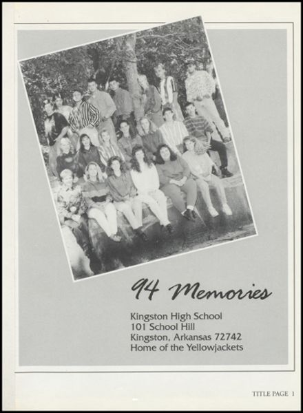 1994 Kingston High School Yearbook Page 5