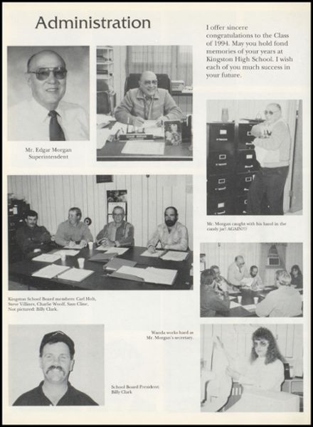 1994 Kingston High School Yearbook Page 8