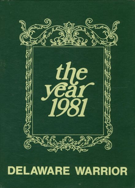 1981 Delaware High School Yearbook Cover