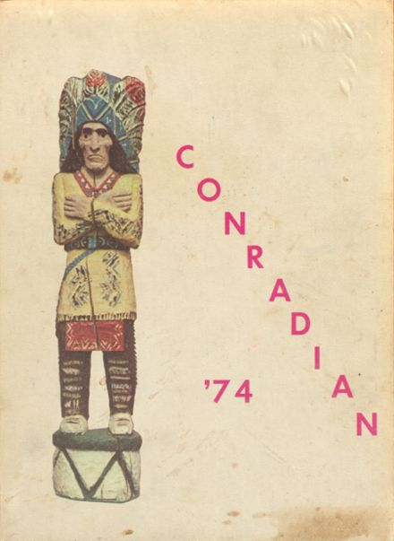 1974 Conrad High School Yearbook Cover