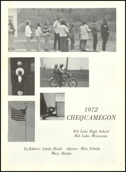 1972 Rib Lake High School Yearbook Page 5