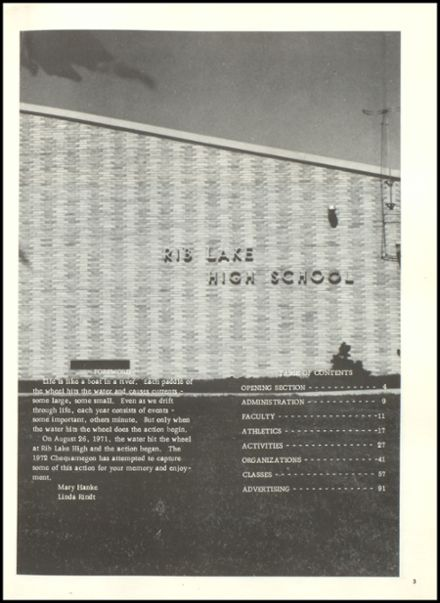 1972 Rib Lake High School Yearbook Page 7