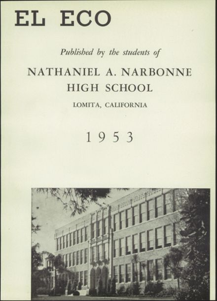 1953 Nathaniel Narbonne High School Yearbook Page 7