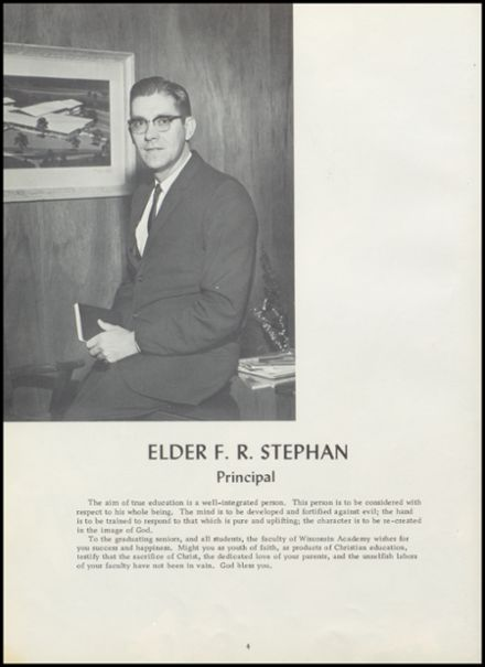 1964 Wisconsin Academy Yearbook Page 8