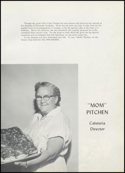 1964 Wisconsin Academy Yearbook Page 9