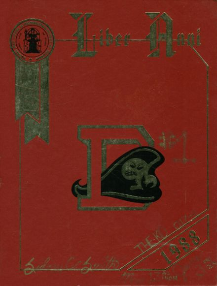 1988 Dunbar High School Yearbook Cover