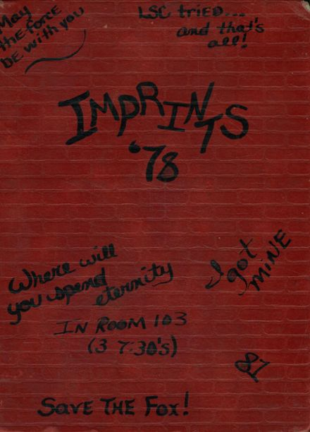 1978 Wills High School Yearbook Page 1