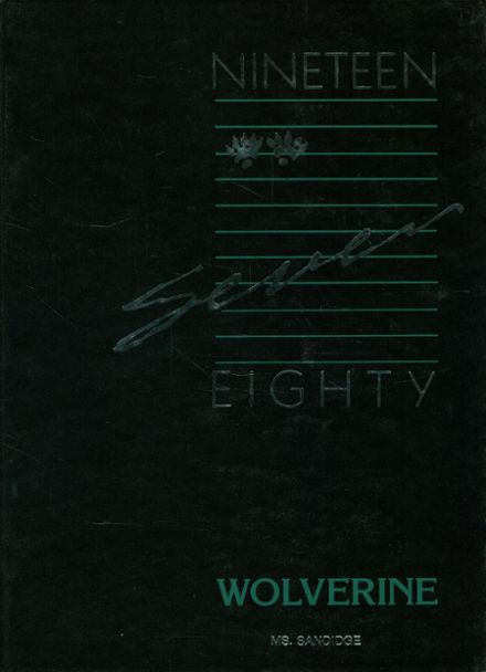 1987 Mansfield High School Yearbook Cover