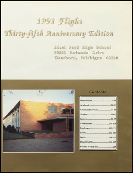 1991 Edsel Ford High School Yearbook Page 5