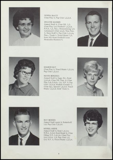 1964 Rock Valley High School Yearbook Page 8