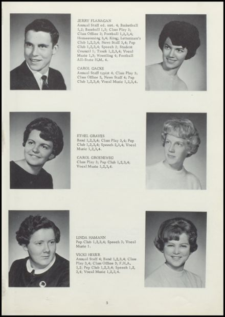 1964 Rock Valley High School Yearbook Page 9