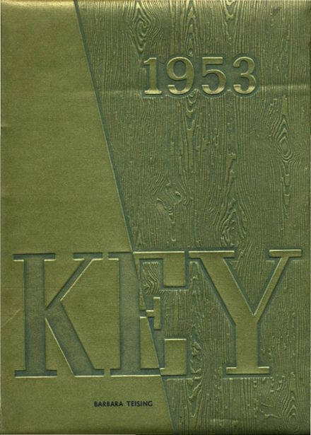 1953 Evanston Township High School Yearbook Cover