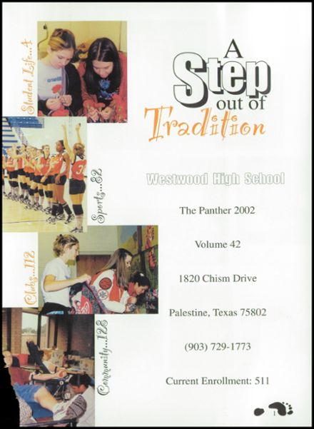 2002 Westwood High School Yearbook Page 5