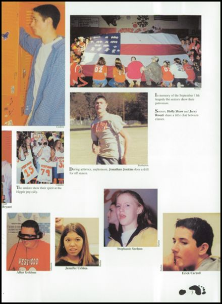 2002 Westwood High School Yearbook Page 7