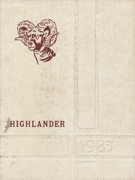 1983 Southern Garrett County High School Yearbook Cover