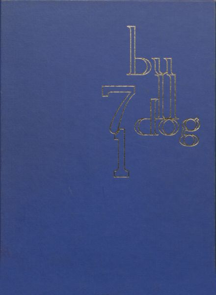1971 West Albany High School Yearbook Cover