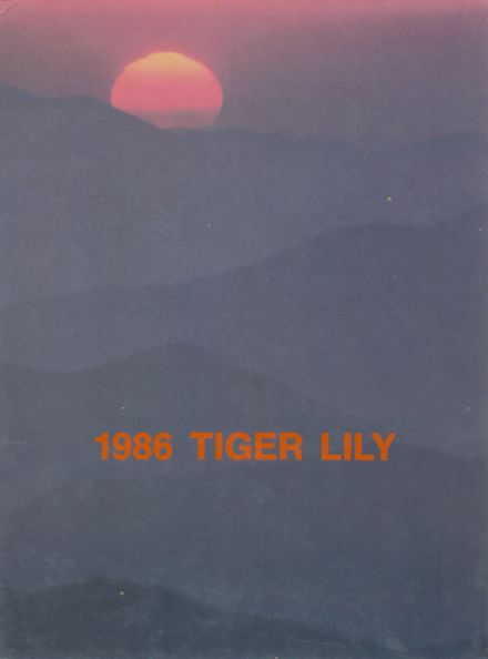 1986 Port Allegany High School Yearbook Cover