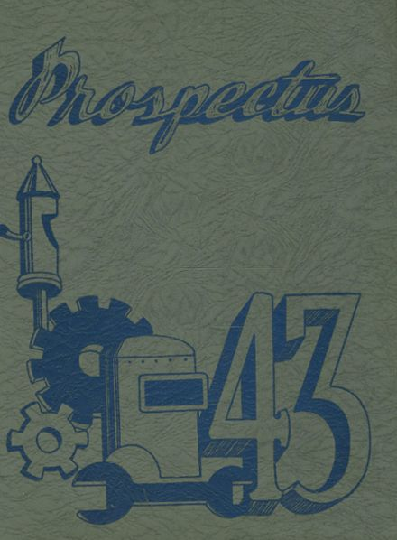 1943 Central High School Yearbook Cover