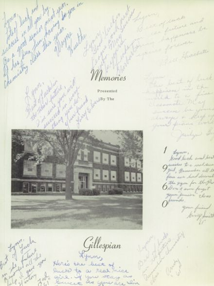 1960 Gillespie Community High School Yearbook Page 3
