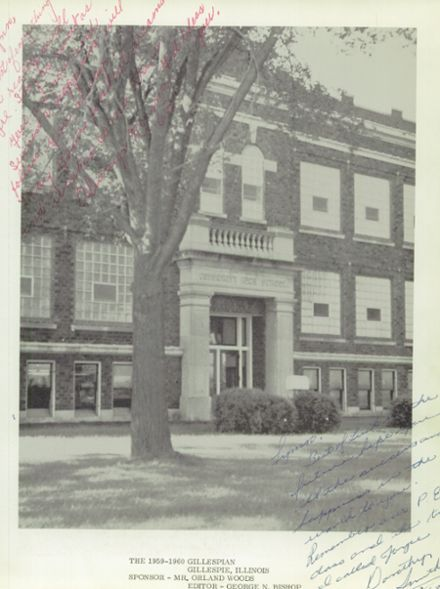 1960 Gillespie Community High School Yearbook Page 7