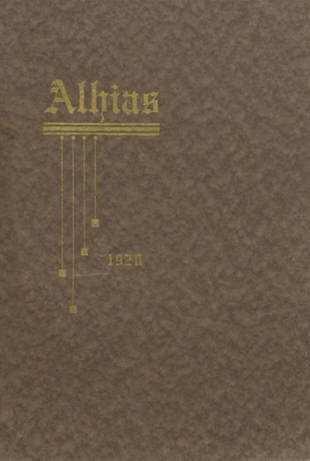 1920 Central High School Yearbook Cover
