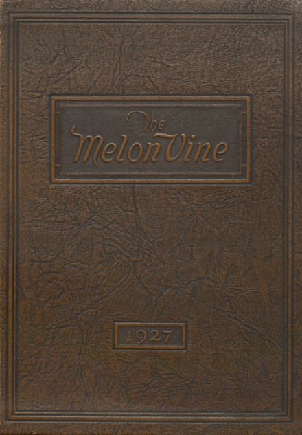 1927 Weatherford High School Yearbook Cover