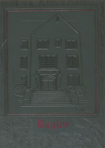1989 Baylor School Yearbook Cover