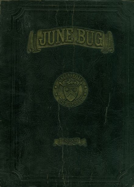 1929 Catonsville High School Yearbook Cover