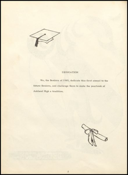 1949 Ashland High School Yearbook Page 6