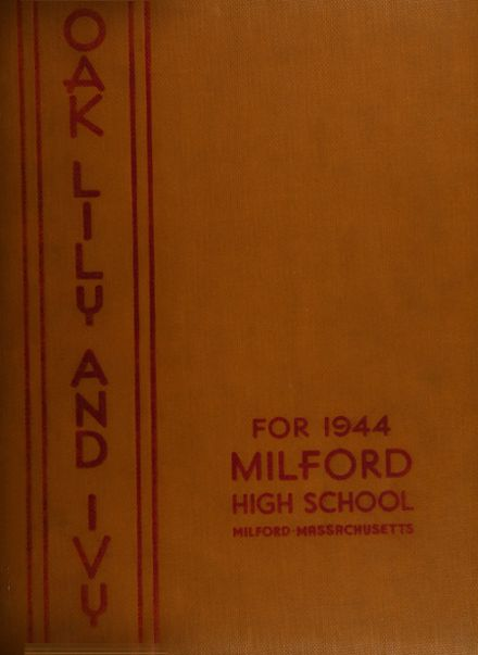 1944 Milford High School Yearbook Cover
