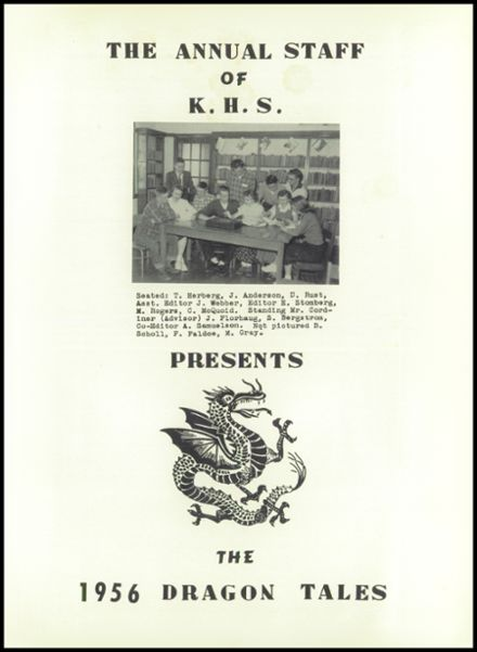 1956 Kelliher High School Yearbook Page 5