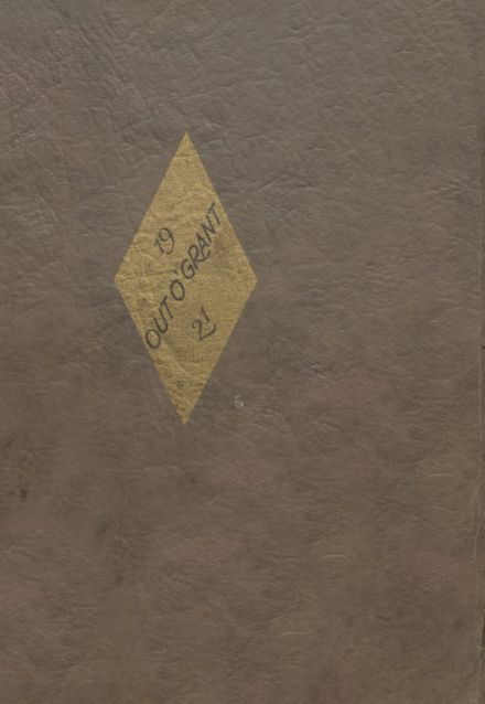 1921 Grant City High School Yearbook Cover