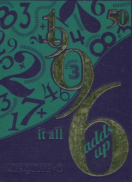 1996 Mesquite High School Yearbook Cover