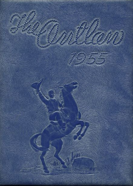 1955 Marlow High School Yearbook Cover