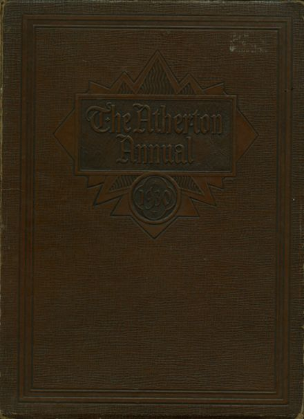 1930 Atherton High School Yearbook Cover
