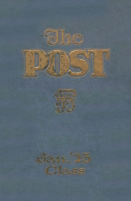 1923 Franklin High School Yearbook Cover