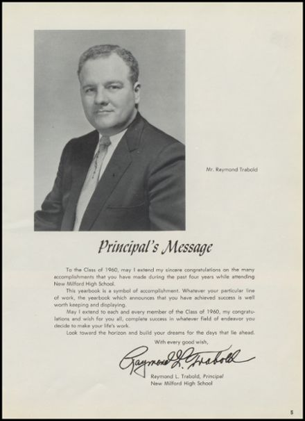 1960 New Milford High School Yearbook Page 9