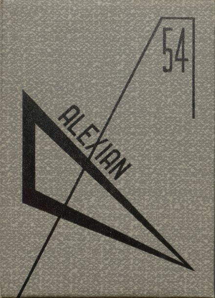 1954 Central High School Yearbook Cover